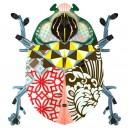 Miho Beetle John décoration murale étagère secrète scarabée